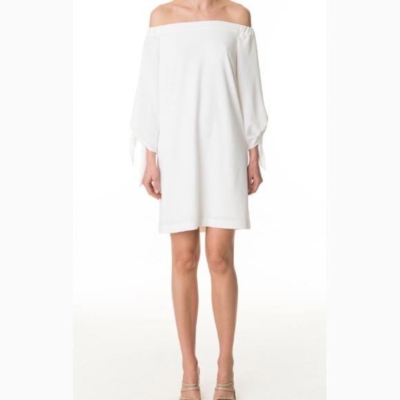 Tibi Woman Savanna Cold-shoulder Draped Crepe Mini Dress Beige Size 12 Tibi vb0J0wTWI9